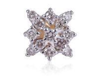 Pave 0,24 Cts Runde Brilliant Cut Natürliche Diamanten Nase Stud In 750 18K Gold