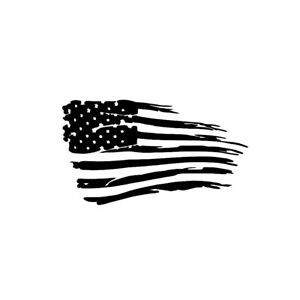 150 x 87mm US Flag Style Black Car Body Door Bumper Sticker Decal Accessories
