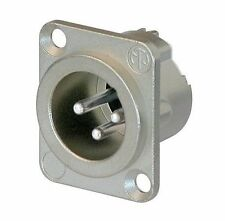 Neutrik NC3MDLX Connector - XLR 3-Pin Male Square Chassis Panel Mounted Plug