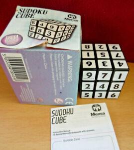 Mensa Sudoku Black & White Rubic Cube with 10 Mensa brainteasers leaflet - boxed