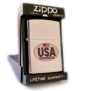 ZIPPO Beautiful 1992 USA - LAND OF THE FREE CAR SIGN REGISTRATION Very RARE !