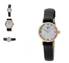 Fashion Women's Luxury Leather shell Wristwatch number Quartz Bear Watch black