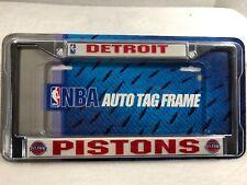 Detroit Pistons Metal Frame Chrome License Plate Tag Cover Basketball