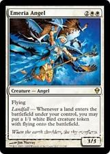 EMERIA ANGEL Zendikar MTG White Creature — Angel RARE