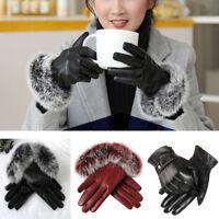 Winter Women Men Warm Touch Screen Gloves Full Finger Mittens Gloves Leather