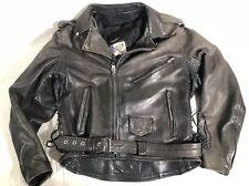 VTG Eagle Leather Wear Motorcycle Heavy Duty  Patch Jacket Size Mens 44