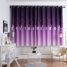 Bedroom Thermal Blackout Curtain Ring Top Eyelet Insulated Window Curtains JD