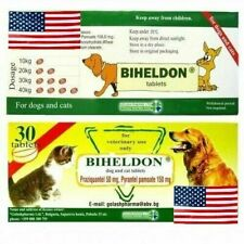 30 Tabs Dog Cat Puppy Wormer Broad Spectrum Dewormer Woming USA SELLER FAST SHIP