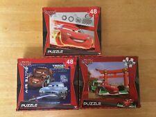 Disney Pixar Cars / Cars 2 II Puzzles 48 Pieces (3 puzzles)
