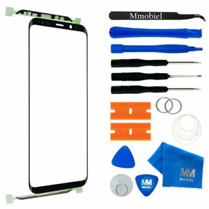 Front Glass for Samsung Galaxy S9 G960 (Black) Display incl. Toolkit