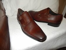 New Men's TO BOOT NEW YORK 'Morgan' Double Monk Strap Loafers US 10 - D (Brown)