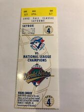 1992 World Series Ticket Stub Game 4