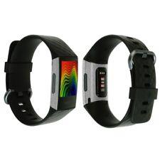 Skinomi (3-Pack) Brushed Aluminum Skins+Screen Protectors for Fitbit Charge 3