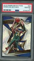 Donovan Mitchell Utah Jazz 2019 Panini Revolution Basketball Card #64 PSA 10