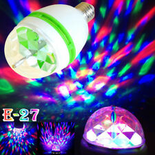 E27 3W RGB LED Rotating Lamp Disco Party Club Christmas decoration Stage Light