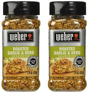 2 Pack of Weber Seasoning, Roasted Garlic and Herb, 7.75 Ounce (220 g)