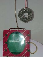 REED & BARTON Cardinal Wreath SILVER CHRISTMAS TREE ORNAMENT #2388