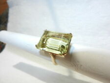 Vintage 14K gold 18.3CT citrine cocktail ring size 7.5 weight 8.7g