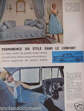 PUBLICITÉ 1959 SIMCA LA VEDETTE PRÉSIDENCE ET CHAMBORD - ADVERTISING