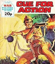 A Fleetway War Picture Library Pocket Comic Book Magazine #1834 CUE FOR ACTION