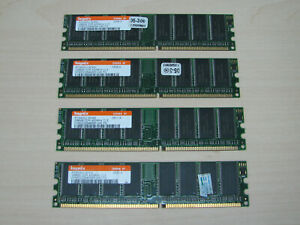 Hynix DDR1 1GB (4 X 256MB) PC3200 DDR-400 184pin HYMD232646B8R TEST OK!