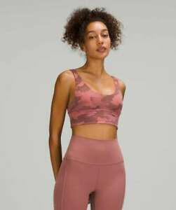 Lululemon ALIGN BRA HERITAGE CAMO BRIER ROSE PINK Yoga Pilates Run Train NWT 6