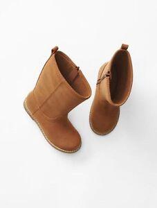 GAP Baby / Toddler Girl Size 6 US Tan / Brown Tall Riding / Moto Boots Booties