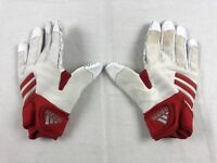 adidas - White/Red Poly Lineman Gloves (Multiple Sizes) - Used