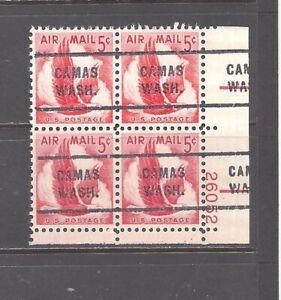 WASHINGTON Precancels: 5c Eagle Air Mail Plate Block (# C50)