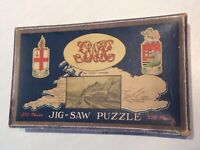 Antique Vintage Early Great Western Railway Torbay Express Wooden Jigsaw Puzzle