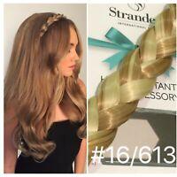 Stranded Hair Plait Chunky Clipped Braid Hairband Hairpiece Headband Blonde Mix