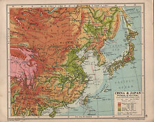 1935 CARTA ~ CHINA & JAPAN ~ Mongolia NIPPON KOREA Tibet manchuria