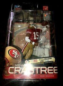 Michael Crabtree McFarlane San Francisco 49ers Red Jersey NFL Series 23 2010