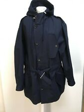NEW Paul Smith Paul navy cotton parka lightweight unlined hooded coat M