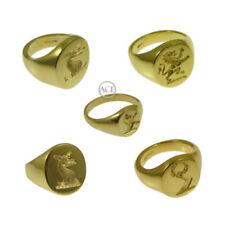 Anillos de joyería de metales preciosos sin piedras aniversario de oro amarillo de 9 quilates