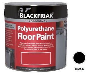 Sale Blackfriar Polyurethane Floor Paint Indoor Outdoor Hard Wearing Black 5L