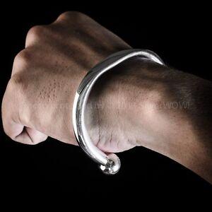 HEAVY ID TORQUE Bangle / Bracelet - Identity & SOLID 925 Sterling Silver