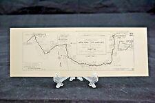 1915 Automobile Club of Southern CA Strip Map Las Vegas to Santa Fe #22 (A19)