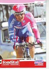 CYCLISME carte cycliste GORAZD STANGELJ équipe LAMPRE FONDITAL 2007  signée