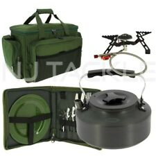 NEW NGT Fishing Camping Gas Portable Stove Kettle A Insulated Bag & Cutlery Set