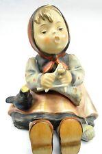 Hummel Porcelain Figurine Happy Pastime 69 Tmk 3 Vintage Girl Knitting Germany