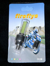 NEW Firefly LED Flashing Wheel Tire Valve Cap Bicycle Car Motorcycle Yellow