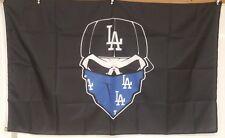 Los Angeles Dodgers flag New Banner Indoor Skull 3x5 feet US seller Custom Black