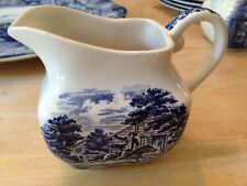 VINTAGE STAFFORDSHIRE IRONSTONE LIBERTY BLUE PAUL REVERE MIDNIGHT RIDE CREAMER