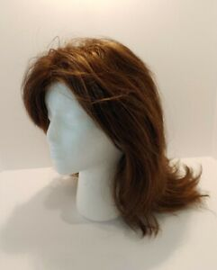"Jon Renau Wig Brown w/ Highlights (Synthetic?) 16"" - 18"" Long HIGH QUALITY"