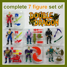 VTG TYCO 1993 DOUBLE DRAGON COMPLETE SET OF 7 ACTION FIGURES IN GREAT CONDITION