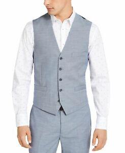 INC Men's Suit Separate Vest Blue Combo Size 2XL Dwayne Slim Fit $59 #112