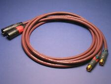 1 m XLR to RCA Audiophile Cables ~ Pair of Evidence Audio Forte Neutrik Profi