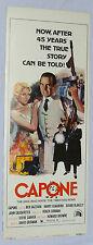 Ben Gazzara CAPONE 14x36 Original Insert 1975 Movie Poster Sylvester Stallone