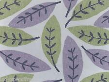 Sanderson Curtain Fabric BLOCK LEAF 2.0m Lilac/Catkin Heavy Cotton Leaf Design